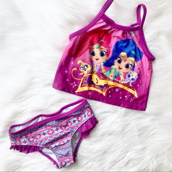 958ad3743b32b Nickelodeon Swim | Shimmer And Shine Toddler Girls Tankini Size 3t ...